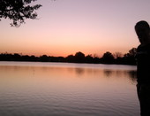 Лето. Озеро. Закат.
