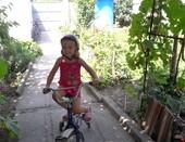 Моя сестренка Вика. Не страшен ты, велосипед