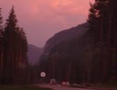 Дорога на закате.