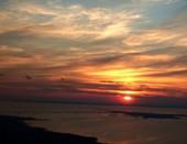 Закат над Петербургом из самолета