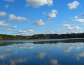 озеро Сямозеро в Карелии