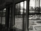 из трамвая. будни москвы.